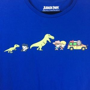 Loot Crate Jurassic Park Cartoon Crewneck Tee